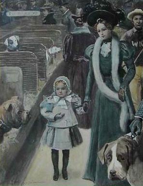 Hondenshow in 1897