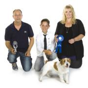 JH Paul Buchinhoren met een Jack Russell Terrier